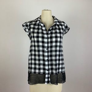 Anthropologie Holding Horses Gingham Top